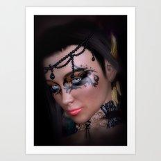 Beautiful Dark Queen Art Print