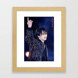 Golden Jungkook Day Framed Art Print