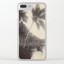 Vintage Palm Tree Photo Clear iPhone Case