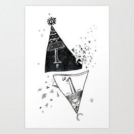 Pyramids. Art Print
