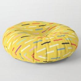 Modern Scandinavian Dash Multi Yellow Floor Pillow