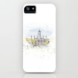 Mizzou Columns Splash iPhone Case