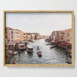 Venice Grand Canal views from Rialto Bridge Serving Tray