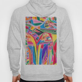 """colour jungle"" - tribal abstract art Hoody"