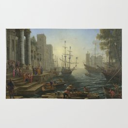Seaport with the Embarkation of Saint Ursula by Claude Rug