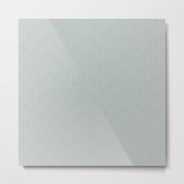 Studded Chevron Stripe on Slate Green Mist 2@50 Metal Print