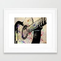 guitar Framed Art Prints featuring Guitar by Del Vecchio Art by Aureo Del Vecchio