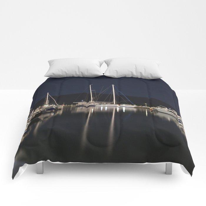 Marina at Night Comforters