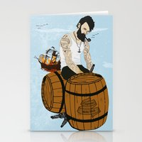 moby Stationery Cards featuring Captain Moby by Napa