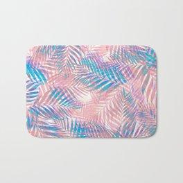 Palm Leaves - Iridescent Pastel Bath Mat