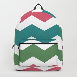 Green Pink Blue Chevron Backpack