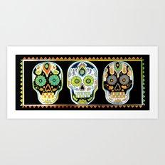 Tres Cráneos Art Print