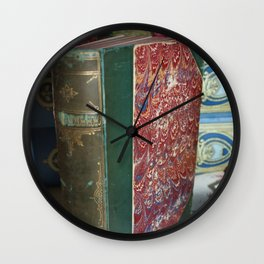 For the love of old books Wall Clock