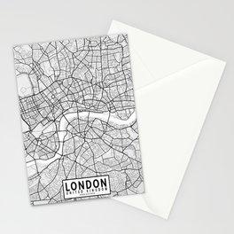 London City Map of England - Light Minimalist Stationery Cards