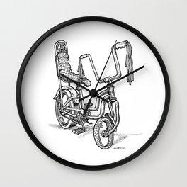 'Slicks R 4 Chicks' - Girls Mod Stingray Muscle Bike Cartoon Retro Bicycle Wall Clock