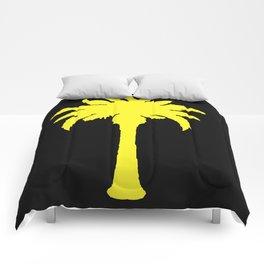 Yellow Palm Tree Comforters