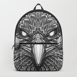 Aztec Eagle Face (Black and White) Backpack