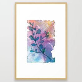 Watercolor Leaves II Framed Art Print