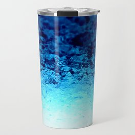 Blue Crystal Ombre Travel Mug