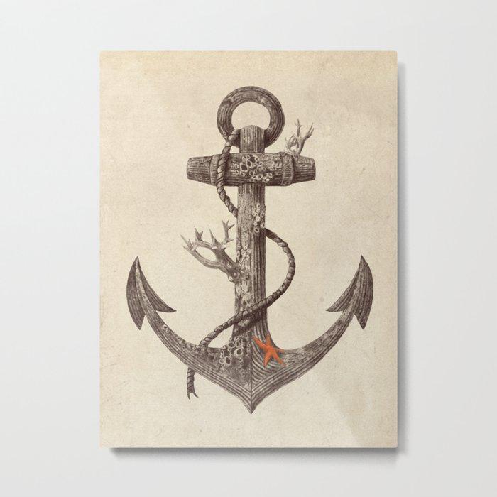 Lost at Sea - mono Metal Print