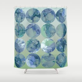 Blue Moons Shower Curtain