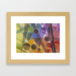 Rainbow Prism Framed Art Print