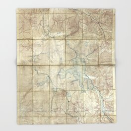 Map of Yellowstone National Park (1886) Throw Blanket