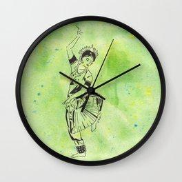 Shakti  (traditional Indian dancer) Wall Clock