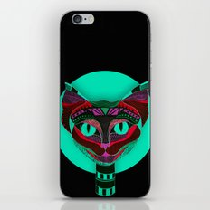 Black CAT- Black iPhone & iPod Skin