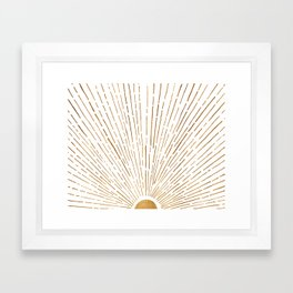 Let The Sunshine In Framed Art Print