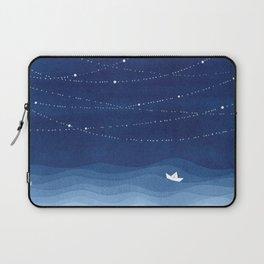Follow the garland of stars, ocean, sailboat Laptop Sleeve