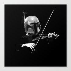 Dark Violinist Fett Canvas Print