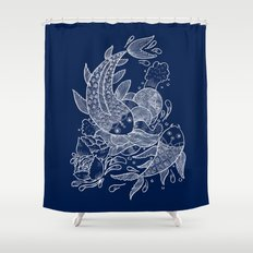 The Koi Fishes Shower Curtain