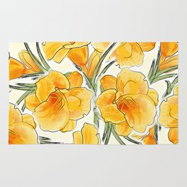 the daylily Rug