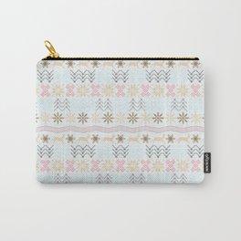 Beautiful Light Winter Festive Pattern Carry-All Pouch