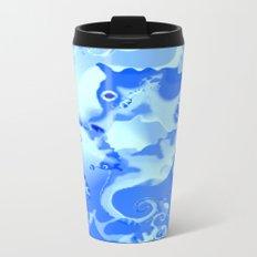 Seahorse in blue Metal Travel Mug