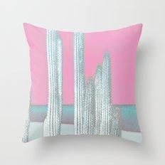 Cactus Pink Throw Pillow