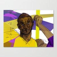 kobe Canvas Prints featuring Kobe Bryant: SO CHILL by Maddison Bond