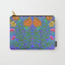 Tulip folk art blue Carry-All Pouch