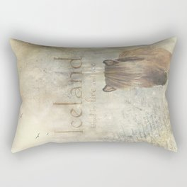 Iceland, forged by fire and ice Rectangular Pillow