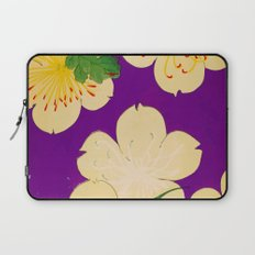 Purple Japanese Floral Vintage Pattern Laptop Sleeve