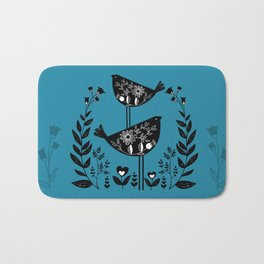 Danish Birds Bring Good Luck And A Good Life Bath Mat