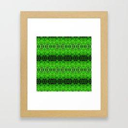 Retro India Lounge Pattern (apple green) Framed Art Print