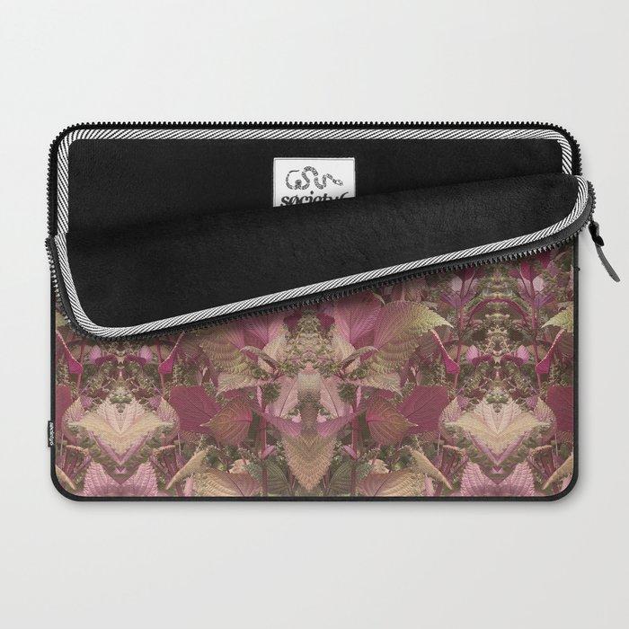 Red Shiso Warm Tones Pattern Laptop Sleeve