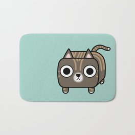 Cat Loaf - Brown Tabby Kitty Bath Mat