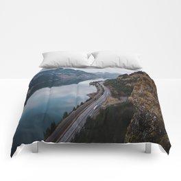 Columbia River Gorge III Comforters