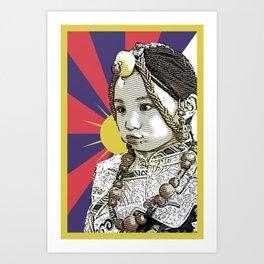 A little Tibetan girl Art Print