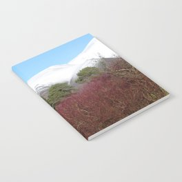 Snow capped Cumbrian mountains Notebook