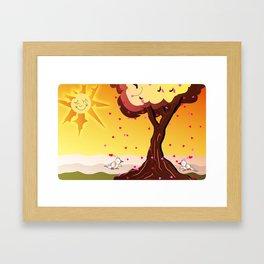 Under the tree part II Framed Art Print