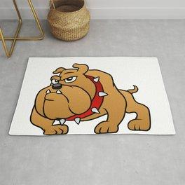 brown bulldog Rug